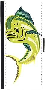 Snoogg Dorado Dolphin Fish Mahi Mahi Jumping Designer Protective Phone Flip Case Cover For Desire 620G Dual Sim