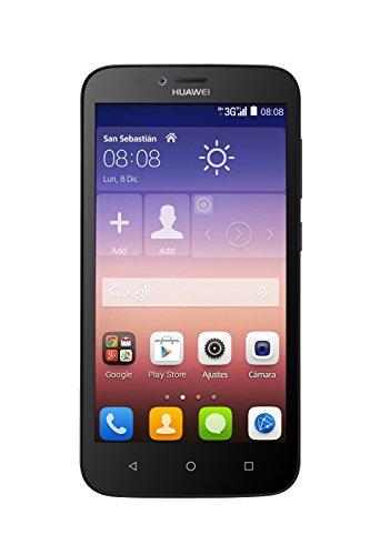 HUAWEI Y625 JADE - SMARTPHONE LIBRE ANDROID (PANTALLA 5  CAMARA 8 MP  4 GB  QUAD-CORE 1 2 GHZ  1 GB RAM  DUAL SIM)  COLOR NEGRO