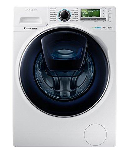 Samsung - Lavadora (Independiente, Carga frontal, Color blanco, LCD, Izquierda, Botones, Giratorio)