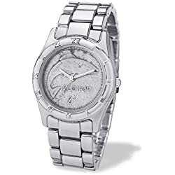 Gents Irish Florin Coin Watch Silver Style Case with Roman Numerals