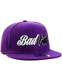 Underground Kulture Bad Gal Purple Snapback Baseball Cap by Snapbacks