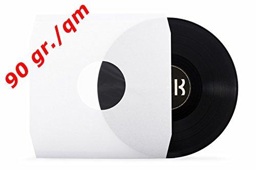 50-deluxe-lp-schallplatten-innenhullen-weiss-mittellocher-antistatisch-gefuttert-eckschnitt-90gr-qm