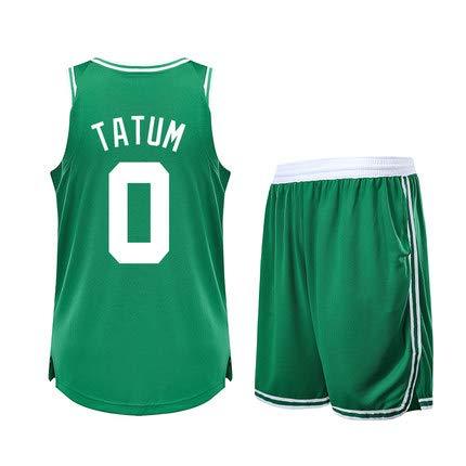 Li Kun Peng Jayson Tatum No.0 Boston Celtics Assorbente Sudore Asciugatura Rapida Uniforme da Basket Maglia da Uomo Traspirante Gioco Moto Allenamento Abbigliamento Uniforme,C3Green,5XL