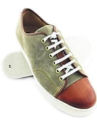 Zerimar. Zapato deportivo confeccionado en piel de alta calidad. Suela de goma. Cómodo y ligero. Color beige-tan.