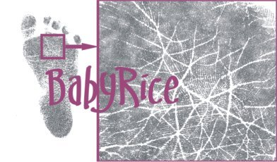 BabyRice Anika-Baby Baby Handprint Footprint Kit Silver Display Frame (Black Prints)
