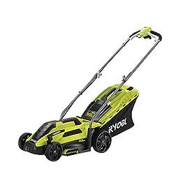Ryobi 5133002343 Tondeuse à gazon électrique, 1300 W, Vert, largeur de coupe 33 cm