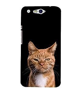 Cat Design 3D Hard Polycarbonate Designer Back Case Cover for In Focus M812 :: InFocus M 812