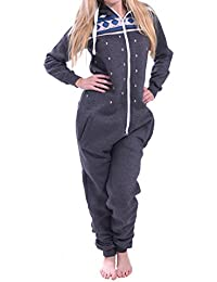 Juicy Trendz Femmes Dames Imprimé Sweat à Capuche Un Zip Capuche Onesie Survêtement