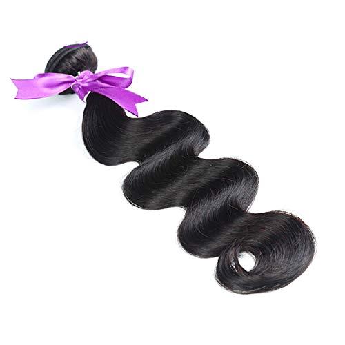 e Haarverlängerungs-Webart-Haar 8-28 Zoll-Körper-Wellen-Haar bündelt Grad-8A-Menschenhaar-Webart-natürliche Farbe Nicht Remy Haar-Verlängerung Perücken ()