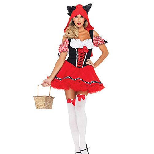 (Shisky Weihnachtskostüme, Weihnachten Kleid Snow White Dress Little Red Riding Hood Cosplay Bühnenoutfits)