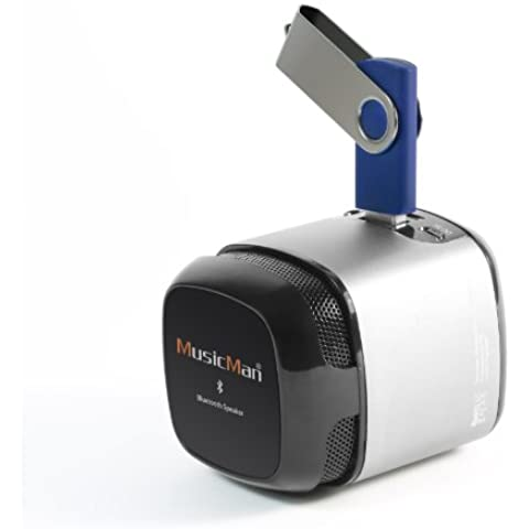Technaxx Musicman Makro NFC-X6 - Altavoces portátiles (Mono, Inalámbrico y alámbrico, Batería, DC, USB, 150 - 18000 Hz, NFC/Bluetooth/USB, Universal)