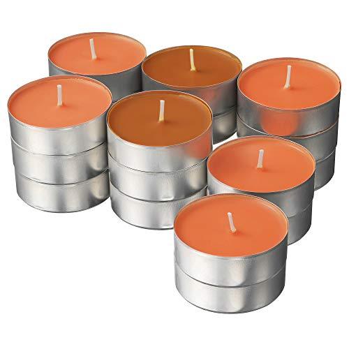 Ikea SINNLIG - Velas aromáticas (24 Unidades, 59 mm), Color Naranja y melocotón