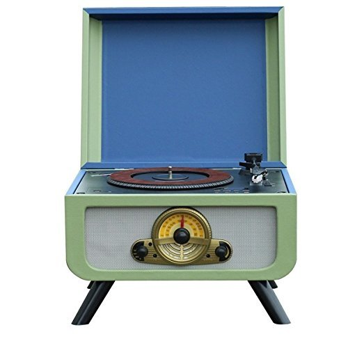 steepletone Rico Retro Turntable with Built-In Integral CD Player and FM Radio