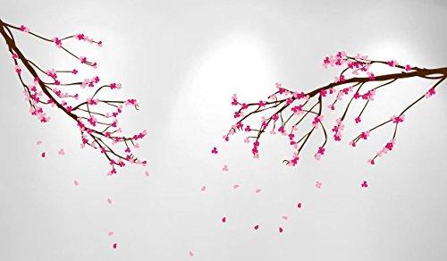 Gran pared Nursery Wall Art rama de árbol de flor de cerezo adhesivo ramas de flores (2incluidas) # 1281