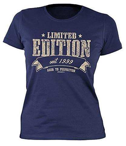 Mädchen T-Shirt zum 18 Geburtstag Damen T-Shirt Limited Edition seit 1999 Geschenk zum 18. Geburtstag 18 Jahre Geburtstagsgeschenk 18-jährige Geschenk