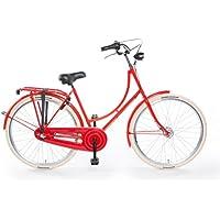 """TULIPBIKES, le vélo Hollandais original et unique """"Tulip 2"""", rouge, 3 vitesses Shimano, hauteur de cadre 50cm"""
