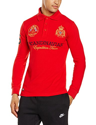 Geographical Norway Herren Poloshirt Kevin LS Men Rot (Red)