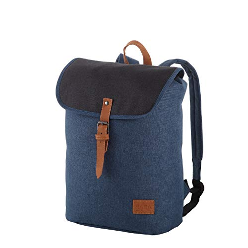 Rada Freizeit Rucksack Creek Small Flap für Jungen und Mädchen, wasserabweisender Daypack für Damen und Herren mit 13 Liter Volumen, Schulrucksack mit geräumigem Hauptfach (Shadow Blue)