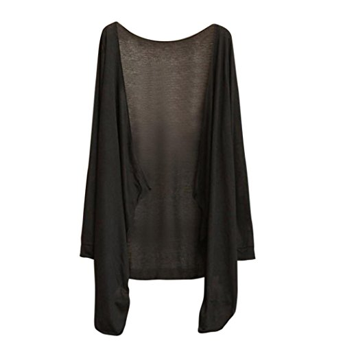 ingwo Damen Cardigan Sommer Lang Dünn Strickjacke Modal Sonnenschutz Bekleidung Tops Strickjacke Top Bluse Beach Cover Up (C) (Plus Größe Gehen Gehen Stiefel)