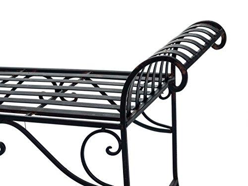 Nostalgie Gartenbank Metall Sitzbank antik Stil Bank Hocker garden bench - 8