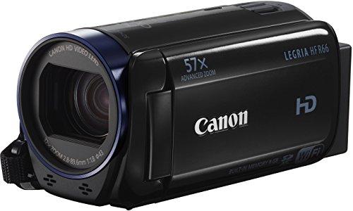Canon LEGRIA HF R66 Camcorder (SDXC-Kartenslot, 32-fach optisch Zoom, 57-fach Advanced Zoom, 7,5 cm (3 Zoll) LCD-Touchscreen, Full HD 1080p, 8 GB interner Speicher) schwarz