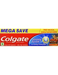 Colgate Strong Teeth - 200 + 100 g + Toothbrush (Saver Pack)