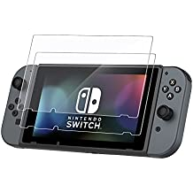 EasyAcc 2 Stücke Nintendo Switch 2017 Schutzfolie Glas Folie Panzerfolie for Nintendo Switch 2017 Klar Anti-Kratz Displayfolie - 9H Hardness aus gehärtetem Glas