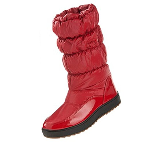 Gaorui Damen Mädchen wasserdichter Schneestiefel Schlupfstiefel Damen Boots Warm gefüttert Rot Rosa Rot