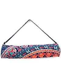 Generic SSHE Handicraft Women's Printed Yoga Bag Handmade (Multi-Color)