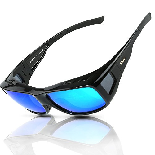 DUCO Men's and Women's Polarized Fit-Over Sunglasses over Prescription Glasses for Myopia 8953