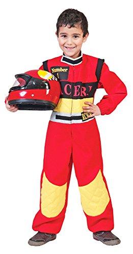 Racer Rennfahrer Kostüm Kinder Gr. (Anzug Kostüm Rennfahrer)