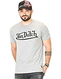 72d5ddbacbf Von Dutch Vondutch - T-Shirt Homme Best Gris Imprimé Noir