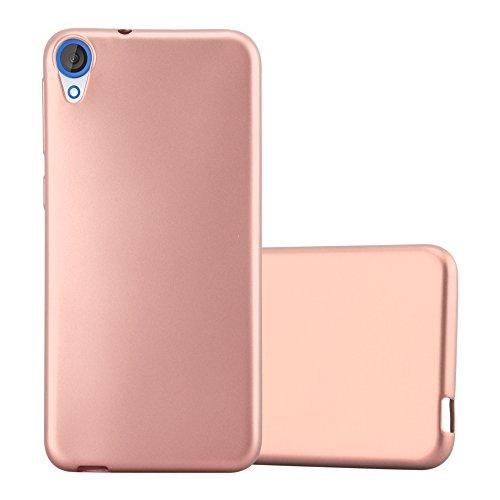 Cadorabo Hülle für HTC Desire 820 - Hülle in METALLIC Rose Gold – Handyhülle aus TPU Silikon im Matt Metallic Design - Silikonhülle Schutzhülle Ultra Slim Soft Back Cover Case Bumper