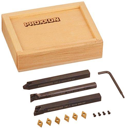 PROXXON 24555 Serie di utensili con placchette in metallo duro a più taglienti per PD230/E e PD 250/E