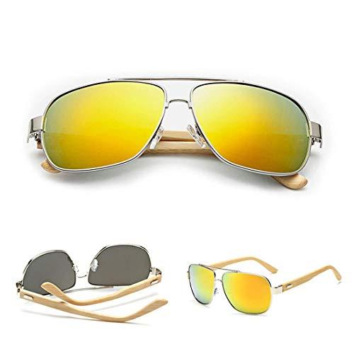 YDS SHOP Holz Retro Designer Sonnenbrille Hiker Pilot Outdoor Sports Sonnenbrille UV400 (Color : 2)
