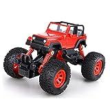 JINFYUAN Pull Back Monster-Trucks, mit 4 unabhängigen Stoßfedern, 4 Rad Drive Reibung, angetrieben, Rückzieh-Auto-Geschenk für Kinder, rot