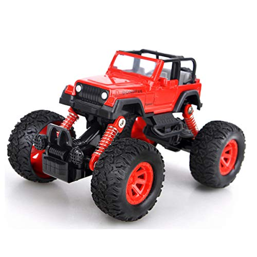 cks zurückziehen, mit 4 unabhängigen Stoßfedern, 4-Rad-Antrieb, kraftbetrieben, Offroad-Geschenk für Kinder (rot) ()