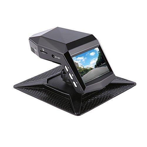 Dash Cam, Auto-Kamera Dual-Objektiv/Single-Objektiv 170 ° Großer Weitwinkel, Full-HD 1296P, HD-Nachtsicht, WDR, Loop-Aufnahme, G-Sensor, Enthält 32G-Speicherkarte, Parfüm-Recorder Schwarz,Duallens