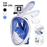 Unigear Tauchmaske, Faltbare Schnorchelmaske Tauchermaske Vollgesichtsmaske, mit Kamerahaltung,...