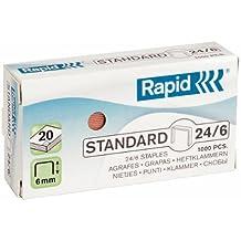 Rapid 24855700 - Grapas cobreadas, 24/6, 20 unidades