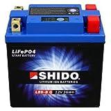 YB9-B Shido Lithium Motorradbatterie LiFePO4 LB9-B Q