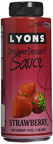Lyons Designer Dessert Sauce, Strawberry, 16 Ounce Bottle Designer-dessert-sauce