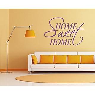 arslinea Wandtattoo - Home sweet home, 60x42 cm, orange