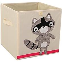 Xikeo - Caja de juguete y de almacenamiento, organizador, de tela, para niños, plegable, 33 cm