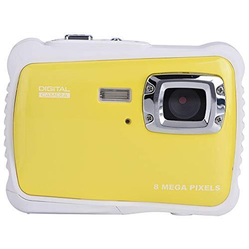 EBTOOLS Digitale Kamera für Kinder, 8MP HD Kinder Unterwasser 3M Wasserdichte Digitalkamera, 2 Zoll LCD mit Trageschlaufe, 4X Digitaler Zoom (Gelb)
