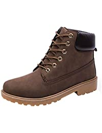 Zapatos Hombre,Hombres Botas de Tobillo Piel Forrada Invierno otoño Caliente Ankle Botas Zapatos