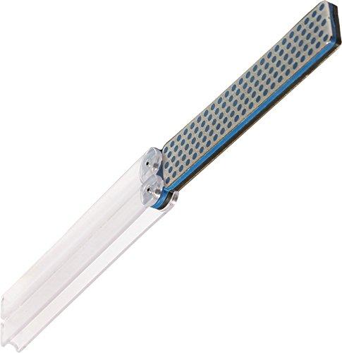 DMT DiaFold Diamantschärfer - doppelseitig - schwarz/extragrob - blau/grob - mit Wasser oder trocken verwendbar - Griffe