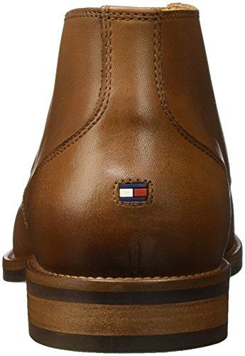 Tommy Hilfiger D2285aytona 2a, Bottines Chukka Homme Blanc (Winter Cognac)