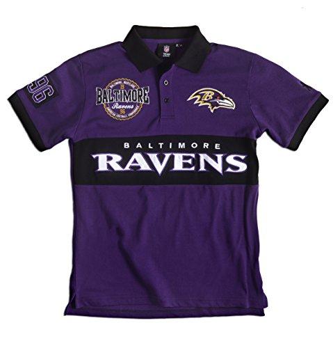 FOCO NFL Rugby-Poloshirt aus Baumwolle, Herren, Team Color, Large