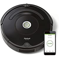 iRobot Roomba 671 Robot Aspirador, Alto Rendimiento de Limpieza, Sensores de Suciedad Dirt Detect, Todo Tipo de Suelos, Atrapa el Pelo de Mascotas, WiFi, Negro